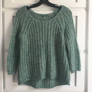 Knitted & Knotted Aqua Green Sea Sparkle Sweater